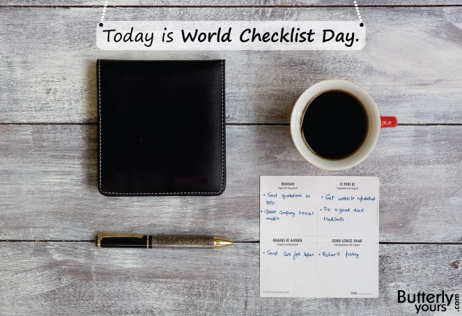 World Checklist Day